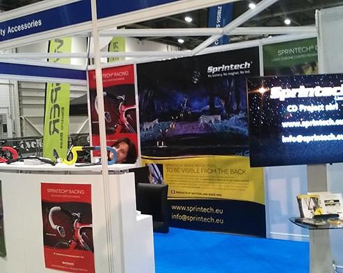 sprintech-booth-at-london-bike-show